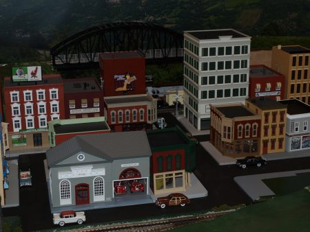 Layout photo on the downtown section of the town.