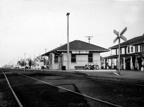 Photo of the original Wildwood Crest train station. at New Jersey Avenue and Sweetbriar Road.